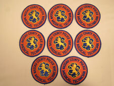 8 NASSAU COUNTY NEW YORK MEDICAL TECHNICIAN POLICE 3 3/8 INCH PATCHES NEW