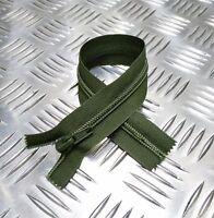 "Genuine British Military OPTI 8"" Closed End Green Zip / Zipper H Duty ZPM41"