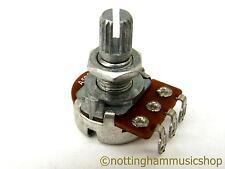 500k ohms type A log guitar pot sub miniature log potentiometer tone short reach