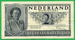 Netherlands 2 1/2 Gulden 1949 , VF