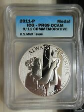 2011-P US Mint 9/11 Commemorative Silver Proof Medal (ICG PR-69 DCAM)