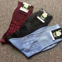 5 Pairs Men Silk-like Sheer Socks Silk Feel Nylon Silky Smart Business Retro Set
