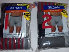 Gildan Underwear Mens Boxer Briefs 5 Pk Premium Cotton Plush Waistband Value