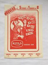 Tintin Flyer RIZLA chewing gun Super Concours Temple du soleil 1970 / HERGE