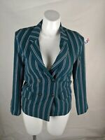 Anthropology Re:named Womens UPTOWN BLAZER GREEN Small  $75