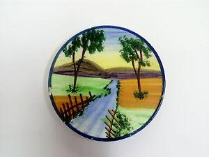 Antiguo Platito Plato de ceramica VALENCIANA pintado a mano 15cm Ø