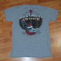WALT DISNEY WORLD Souvenir Adult M ROCK 'N ROLLER COASTER T-Shirt EUC