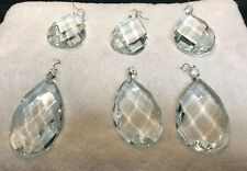 Lot of 6 Large Chandelier Crystals (3 3/4 inches each)