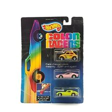 1987 Mattel Hot Wheels Color Racers 3 Pack - UNOPENNED