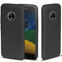 Motorola Moto G5 Hülle Tasche Case Cover Handy Backcover Handyhülle Schwarz