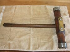 Antique Vintage Nautical Rosewood Shipwrights Caulking Mallet Woodworking Tool