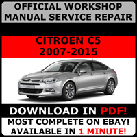 OFFICIAL WORKSHOP Service Repair MANUAL For Citroen C5 2007 - 2015