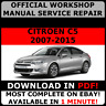 OFFICIAL WORKSHOP Service Repair MANUAL For Citroen C5 2007 - 2015