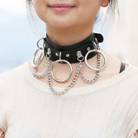 PU Leather Choker Necklace For Woman Party Jewelry Necklace Punk Goth Style
