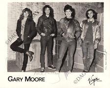 GARY MOORE 8x10 Photo FULLY SIGNED - John Sloman Neil Murray Ian Paice AUTOGRAPH