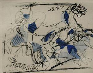 Georges BRAQUE : la course de chars - GRAVURE signée, 1950
