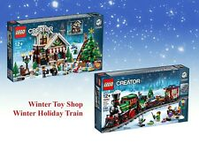 LEGO 10254 10249 WINTER HOLIDAY TRAIN & WINTER TOY SHOP XMAS GIFT TOY NEW 5% OFF