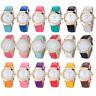Luxury Geneva Womens Watches Diamond Analog Leather Quartz Wrist Watch Fashion