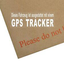 4 x Ausgestattet Mit Einem GPS-Tracker-Fensteraufkleber-Sicherheit Warnung