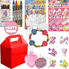 Girls Red Childrens Wedding Activity Packs Favours Gift Party Bag Kids Boxes