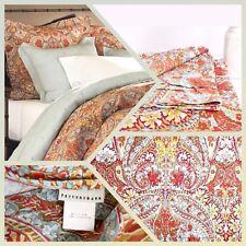 POTTERY BARN Bella Paisley Duvet Cover Queen | Full Pillow Sham(1) Cttn Red|Blue