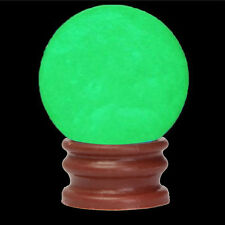 35MM Green Luminous Sphere Ball Glow In The Dark Quartz Crystal Stone With Base