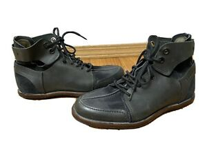 Tsubo Mens Black Leather Boots Size 8