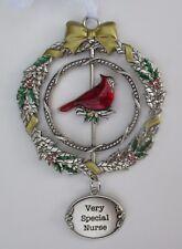 zz5cd Very Special Nurse Christmas Cardinal 3D Ornament Ganz