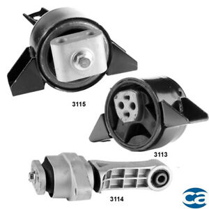 Front, Rear Engine Motor Mounts & Trans. Mount 3Pcs Set for Chevrolet Aveo 1.6L