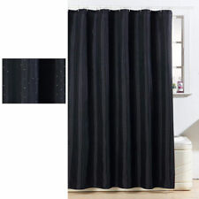 Black Diamante Sparkling Glitter Polyester Machine Washable Shower Curtain