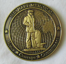 US NAVY MEMORIAL 10TH ANNIVERSARY 1987-1997 BRONZE CHALLENGE COIN