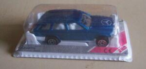 Majorette 250 Mercedes blue 300TE wagon in pack