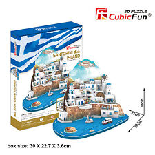 New Aegean Sea Santorini  Island 3D Model Jigsaw Puzzle 129 Pieces MC195H