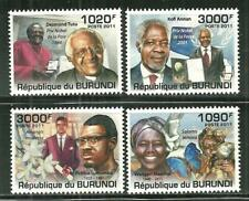 BURUNDI 991-94 MNH FAMOUS AFRICANS 15.00