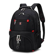 """Mens Travel Sport Rucksack 15"""" Laptop Backpack Shoulder Swiss Hiking School Bag"""