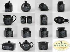Botes y tarros de cocina de cerámica color principal negro
