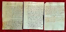 564-PISA, LOTTO DI 3 CERTIFICATI DI MATRIMONIO CON INDICAZIONI DELLA DOTE, 1600