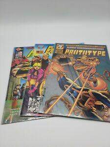 Malibu Comics Set Of 3 Prototype, Ex Mutants, Prime