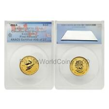 Canada 2015 Maple Leaf $10 1/4 oz Gold ANACS PR70 DEAM First Release SKU#6535