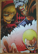 ONE PIECE POSTER DONQUIXOTE DOFLAMINGO ROSINATE TRAFALGAR LAW  42x29 CM NEW