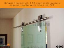 Binär Minimal Ml. 2,50 Zum Schieben Edelstahl Tür Glas Bis Kg. 120