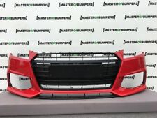 AUDI TT S LINE TTS 2015-2018 FRONT BUMPER IN RED WITH GRILL GENUINE [A506]
