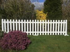 1.8 mtrs Picket Fencing & Posts White Primed Free Standing Exhibitions & Events