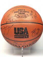 Signed dream team usa nba autógrafo pelota de baloncesto camiseta lebron iverson Wade