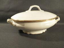 Antigua sopera oval porcelana ribete dorado vintage french antigua sopera