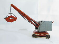 OLD TIN TOY CRANE VECCHIA GRU LATTA MFZ MADE IN US ZONE GERMANY