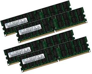 4x 4GB 16GB ECC RAM Speicher Tyan Thunder n3600QE (S4980) 667 Mhz Registered