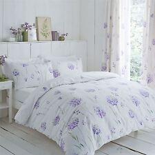 Allium Flores Púrpura 144 TC King Size duvet cover & Cortinas PLISADAS DE LÁPICES