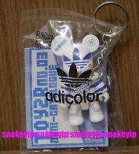 """Toy2R x Adidas 2.5""""Qee Bear White/Blue adicolor 2006 MIB"""