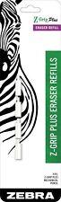 83204 Zebra Z Grip Plus Mechanical Pencil Eraser Refill White Erasers 1 Pack